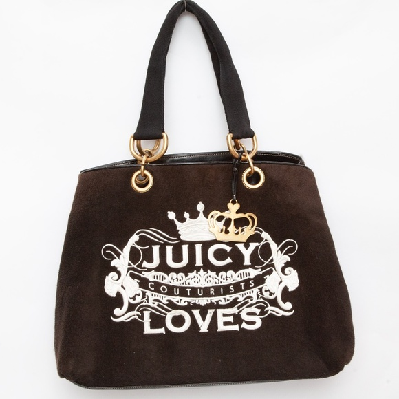 Vintage Pammy Velour Juicy Couture Tote Bag Purse